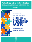 How to Apply PtP to Stolen or Stranded Assets (PtP How-To Booklet no. 1, 12.2017)
