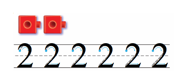 Go-Math-Grade-K-Chapter-1-Answer-Key-Represent-Count,-and-Write-Numbers-0-to-5-Lesson 1.2 Count and Write 1 and 2-Share and Show-2