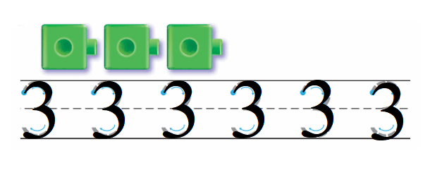 Go-Math-Grade-K-Chapter-1-Answer-Key-Represent-Count-and-Write-Numbers-0-to-5-Lesson 1.4 Count and Write 3 and 4-Share and Show-1