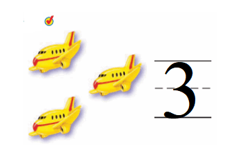 Go-Math-Grade-K-Chapter-1-Answer-Key-Represent-Count-and-Write-Numbers-0-to-5-Lesson 1.4 Count and Write 3 and 4-Share and Show-3