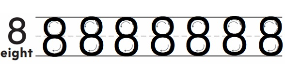 Go-Math-Grade-K-Chapter-3-Answer-Key-Represent-Count-and-Write-Numbers-6-to-9-Count-and-Write-to-8-Homework-practice-3.6-Question-1