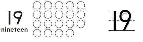 Go-Math-Grade-K-Chapter-7-Answer-Key-Represent-Count-and-Write-11-to-19-Model-and-Count-18-and-19-Homework-&-Practice-7.9-Question-1