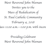 Mass of Rededication - February 4