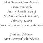 Mass of Rededication - February 4