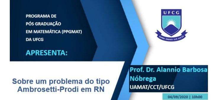 Programa de Pós-Graduação em Matemática realiza palestra on-line na próxima sexta-feira (4/9)