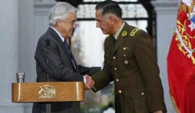 Presidente Sebastian Piñera presenta al nuevo General Director de Carabineros