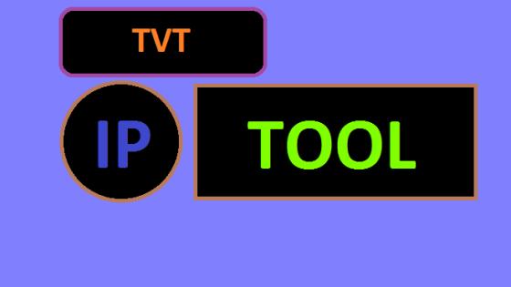 Download TVT IP camera tool