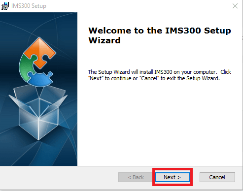 Welcome wizard of the software
