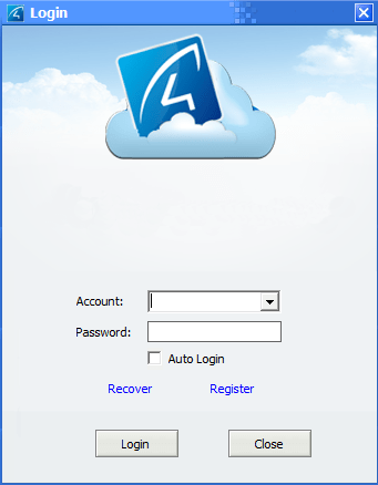 Register account on this software