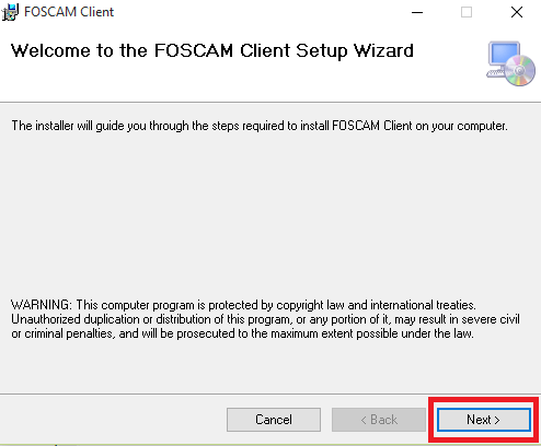 Welcome Wizard of this software installation