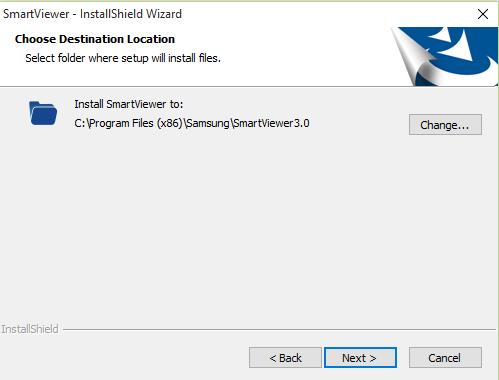 Choose installation folder for the CMS