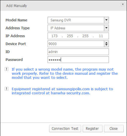 Fill the device details into this CMS