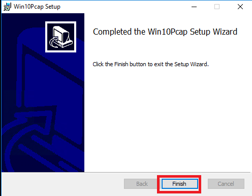 Completed the Win10Pcap for CMS