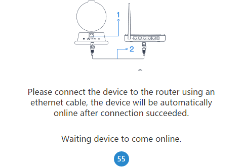 Wait for the device to get connected on the app