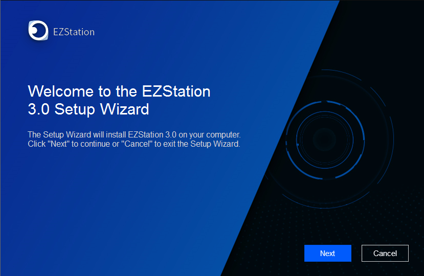 Start the installation of EZLive for pc