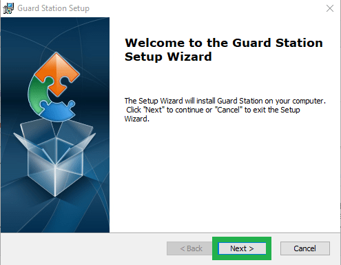 Installing wizard of Guard Viewer for PC