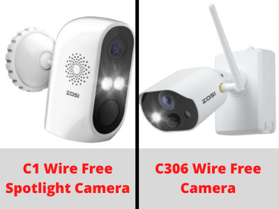 100% Wire Free Single Security Cameras