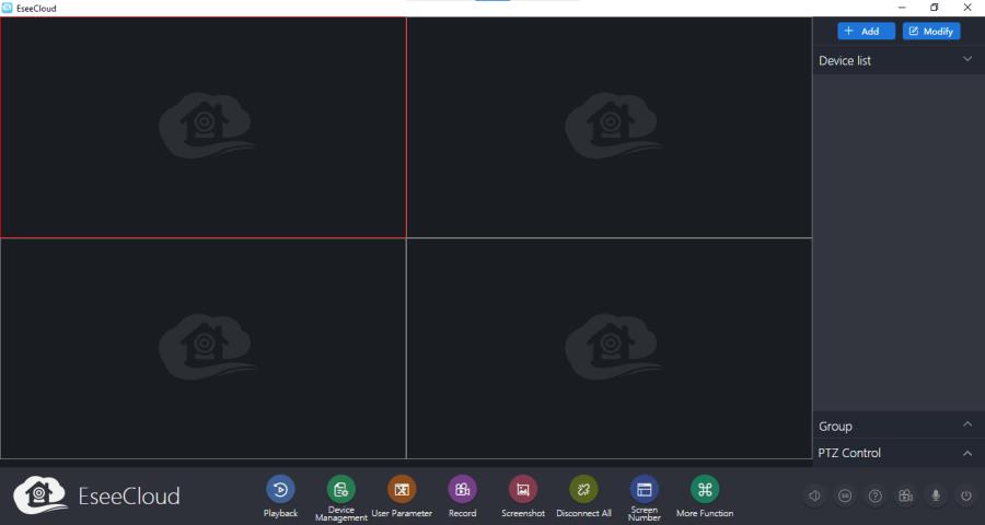 Home screen of the HeimLife CMS