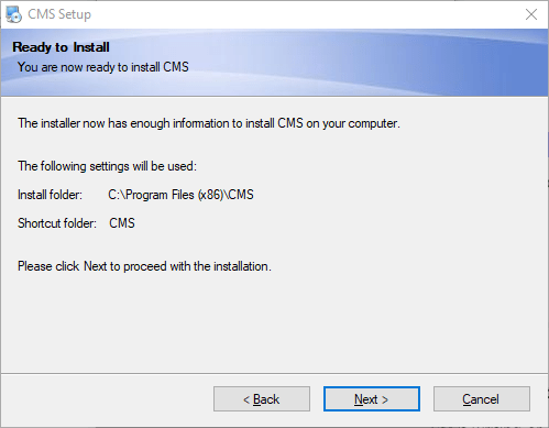 Ready to install the software