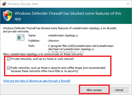 Provide Access To the Windows Firewall
