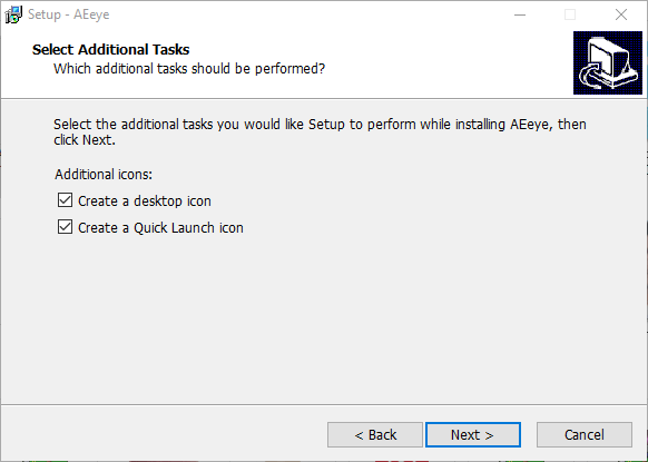 Create desktop and quick launch icon