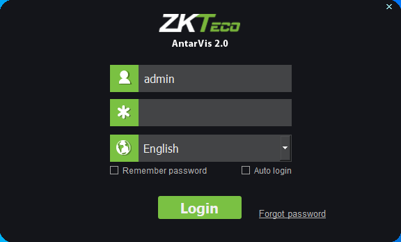 Login with default username and password