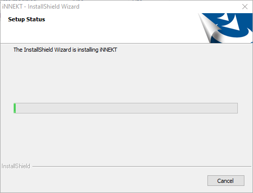 Progress of the software's installation