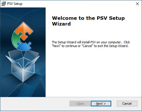 Installation setup of PSV