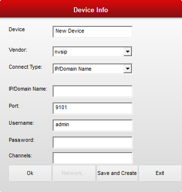 3. Add device credential to connect the devices on the CMS software.