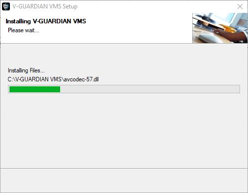 Progress of the application's installation