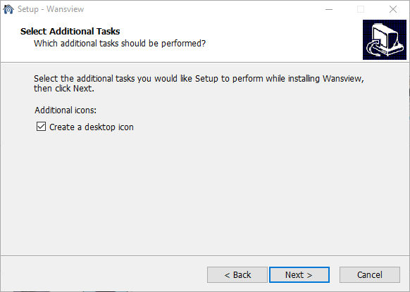 IV. Create desktop icon of the software by selecting the option with tick and proceed with Next button.