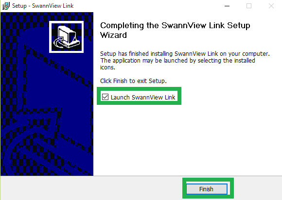 Finish the Swann Security app installation