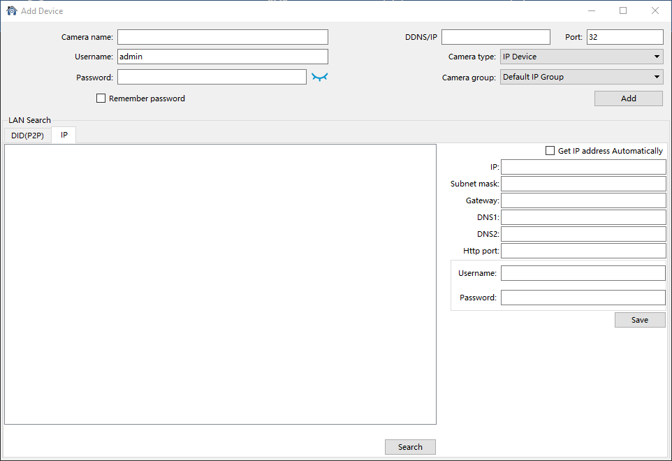 Add and connect the device on the CMS