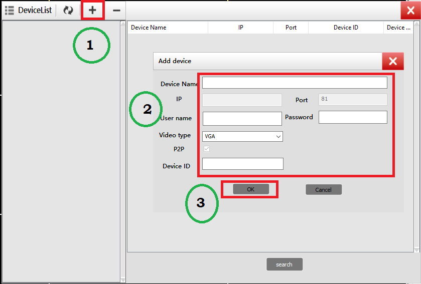 Add devices on the device manager