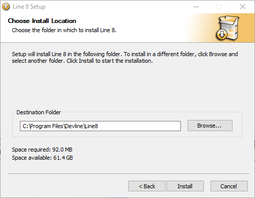 Select the root folder to save installation file of CMS.