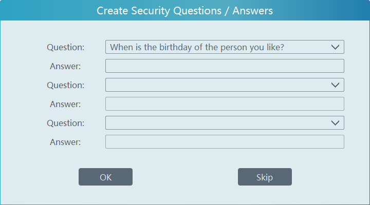 Answer the security question