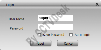 Login with CMS software