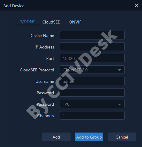 Add devices by entering the credentials