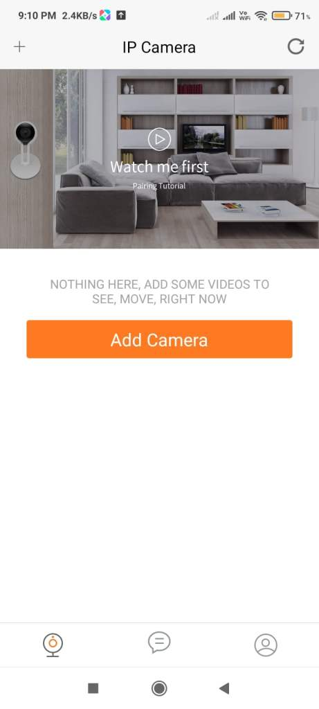 Proceed to add camera