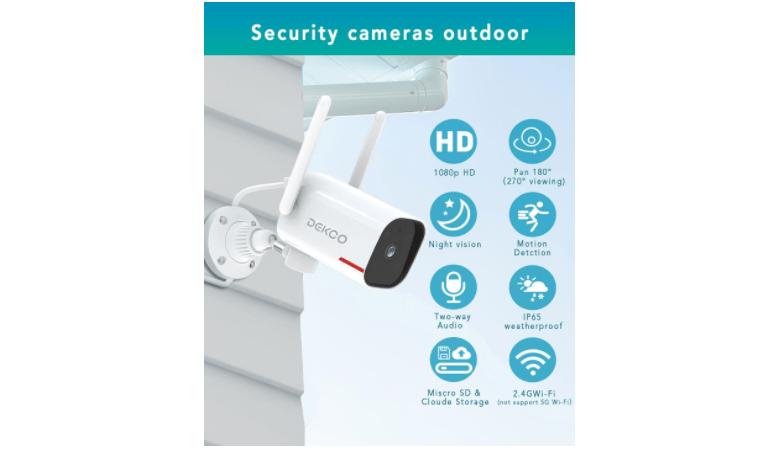 DEKCO 1080P Pan Rotating 180° Outdoor Security Camera 1