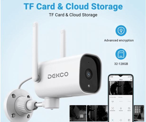 DEKCO 1080P Pan Rotating 180° Outdoor Security Camera 16