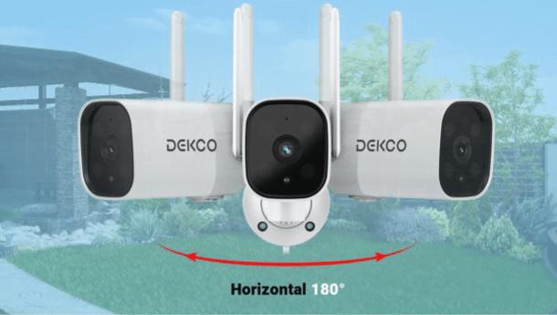 DEKCO 1080P Pan Rotating 180° Outdoor Security Camera 17