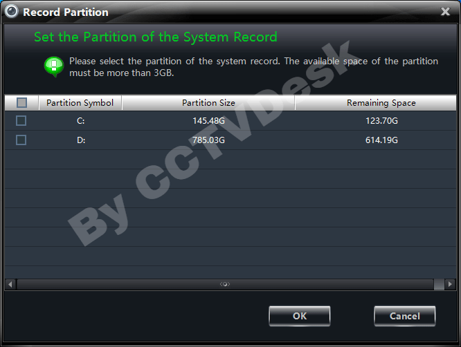 Select the drive for partition.