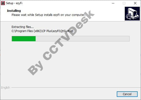 Process of installing the Software