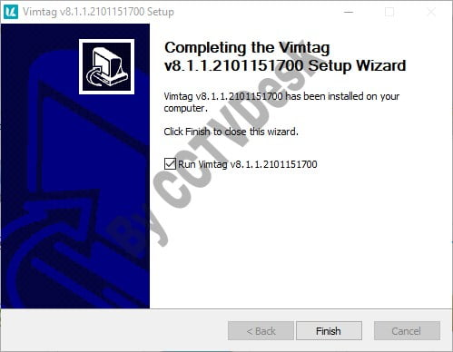Close the setup wizard of the application.