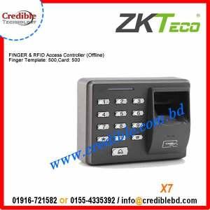 x7 zkteco fingerprint time attendance