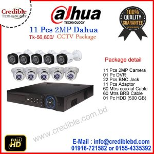 11 Pc DAHUA Camera Package Price