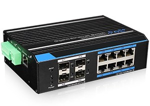 8 Ports Industrial Full Gigabit PoE Managed Switch