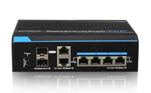 Industrial 4 Ports Gigabit Ethernet HPOE Switch