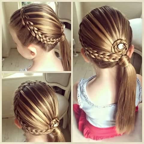 بالصور تسريحات شعر للاطفال صورة روعه وجميلة جدا لتسريحات